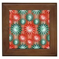 Stars Patterns Christmas Background Seamless Framed Tiles
