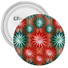 Stars Patterns Christmas Background Seamless 3  Buttons