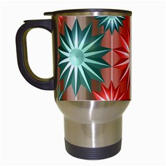 Stars Patterns Christmas Background Seamless Travel Mugs (White)