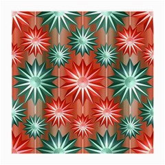 Stars Patterns Christmas Background Seamless Medium Glasses Cloth