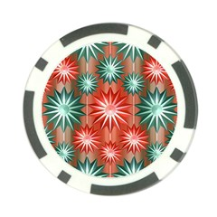 Stars Patterns Christmas Background Seamless Poker Chip Card Guard
