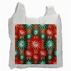 Stars Patterns Christmas Background Seamless Recycle Bag (Two Side)