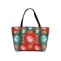 Stars Patterns Christmas Background Seamless Shoulder Handbags