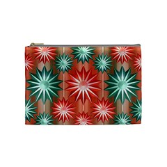 Stars Patterns Christmas Background Seamless Cosmetic Bag (Medium)