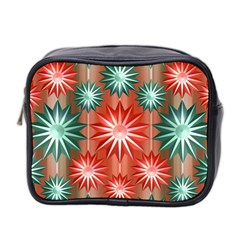 Stars Patterns Christmas Background Seamless Mini Toiletries Bag 2 Side