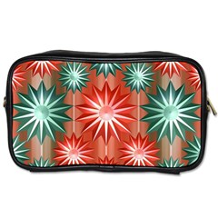 Stars Patterns Christmas Background Seamless Toiletries Bags 2 Side