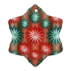 Stars Patterns Christmas Background Seamless Ornament (snowflake)