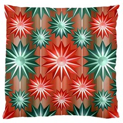 Stars Patterns Christmas Background Seamless Large Cushion Case (one Side)