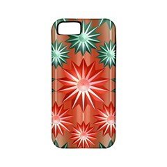 Stars Patterns Christmas Background Seamless Apple iPhone 5 Classic Hardshell Case (PC+Silicone)