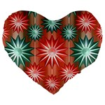 Stars Patterns Christmas Background Seamless Large 19  Premium Heart Shape Cushions Front