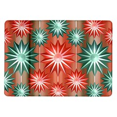 Stars Patterns Christmas Background Seamless Samsung Galaxy Tab 10.1  P7500 Flip Case