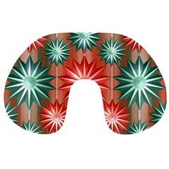 Stars Patterns Christmas Background Seamless Travel Neck Pillows