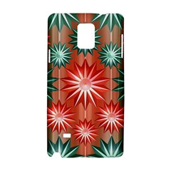Stars Patterns Christmas Background Seamless Samsung Galaxy Note 4 Hardshell Case