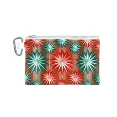 Stars Patterns Christmas Background Seamless Canvas Cosmetic Bag (s)