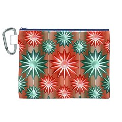 Stars Patterns Christmas Background Seamless Canvas Cosmetic Bag (xl)