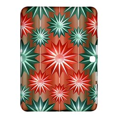 Stars Patterns Christmas Background Seamless Samsung Galaxy Tab 4 (10 1 ) Hardshell Case