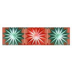 Stars Patterns Christmas Background Seamless Satin Scarf (Oblong)