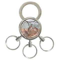 Bob White Quail 3 Ring Key Chains