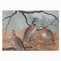 Bob White Quail Large Glasses Cloth (2-Side)