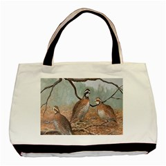 Bob White Quail Basic Tote Bag (Two Sides)