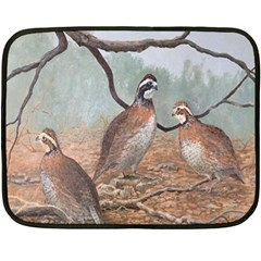 Bob White Quail Fleece Blanket (mini)