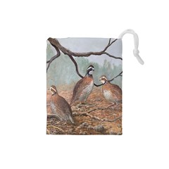 Bob White Quail Drawstring Pouches (Small)