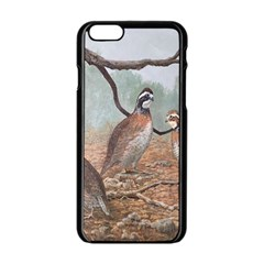 Bob White Quail Apple iPhone 6/6S Black Enamel Case