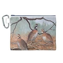 Bob White Quail Canvas Cosmetic Bag (L)