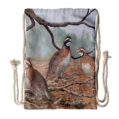 Bob White Quail Drawstring Bag (large)