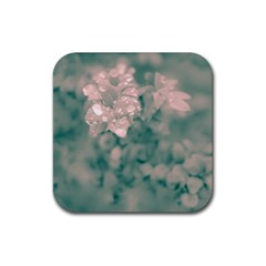 Surreal Floral Rubber Square Coaster (4 Pack)