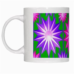 Stars Patterns Christmas Background Seamless White Mugs