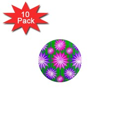 Stars Patterns Christmas Background Seamless 1  Mini Magnet (10 pack)