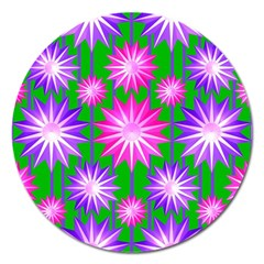 Stars Patterns Christmas Background Seamless Magnet 5  (Round)