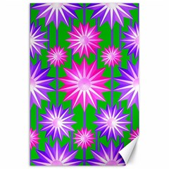 Stars Patterns Christmas Background Seamless Canvas 24  X 36