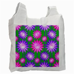 Stars Patterns Christmas Background Seamless Recycle Bag (One Side)