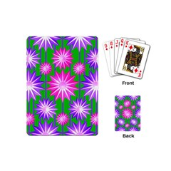 Stars Patterns Christmas Background Seamless Playing Cards (Mini)