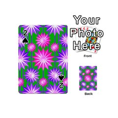 Stars Patterns Christmas Background Seamless Playing Cards 54 (Mini)