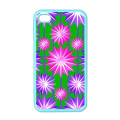 Stars Patterns Christmas Background Seamless Apple Iphone 4 Case (color)