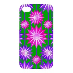 Stars Patterns Christmas Background Seamless Apple iPhone 4/4S Premium Hardshell Case