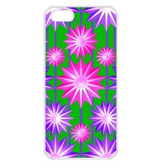 Stars Patterns Christmas Background Seamless Apple iPhone 5 Seamless Case (White)