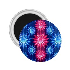 Stars Patterns Christmas Background Seamless 2.25  Magnets