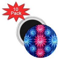 Stars Patterns Christmas Background Seamless 1 75  Magnets (10 Pack)