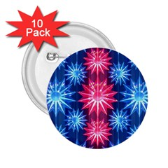 Stars Patterns Christmas Background Seamless 2.25  Buttons (10 pack)