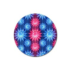 Stars Patterns Christmas Background Seamless Magnet 3  (Round)