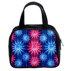 Stars Patterns Christmas Background Seamless Classic Handbags (2 Sides)