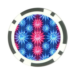 Stars Patterns Christmas Background Seamless Poker Chip Card Guard (10 pack)
