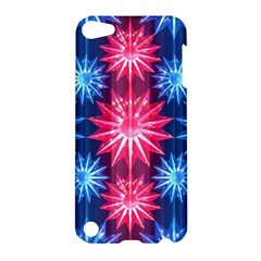 Stars Patterns Christmas Background Seamless Apple iPod Touch 5 Hardshell Case