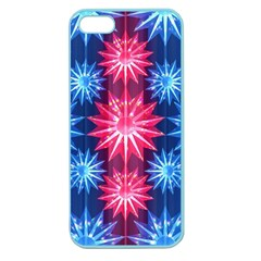 Stars Patterns Christmas Background Seamless Apple Seamless Iphone 5 Case (color)