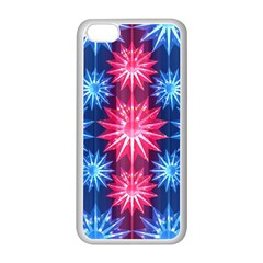 Stars Patterns Christmas Background Seamless Apple Iphone 5c Seamless Case (white)