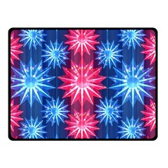 Stars Patterns Christmas Background Seamless Double Sided Fleece Blanket (small)